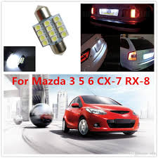 WLJH 31mm Led T10 W5W Bulb For Dome Map Lights Package Kit For Mazda ...