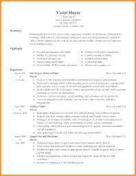 Sample Resume For Restaurant Server With No Experience Waitress Waiter Resumes Free Sk