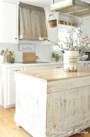 Shabby Chic Wood Kitchen Island