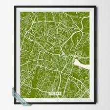 POZNAN POLAND STREET MAP PRINT By Voca Prints Modern Street Map Art Poster With