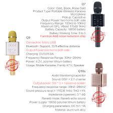q7 q10s q9 wireless karaoke microphone bluetooth speaker track