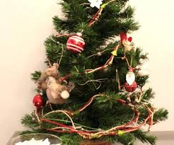 Small Fake Christmas Tree Artificial Mini Intended For Trees Target