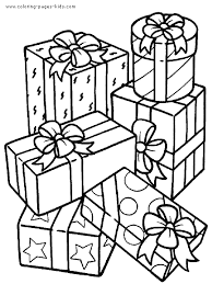Wonderfull Design Present Coloring Page Birthday Presents Color Pages Pinterest