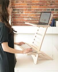 Simple adjustable portable standing desks that transform the