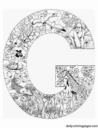 Free Printable Coloring Pages Letters That Are Filled With Animals Begin