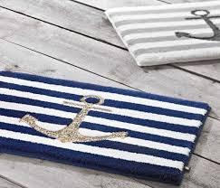 badteppich mit anker motiv der maritime teppich ist aus