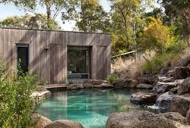 This Is An Example Of A Country Backyard Garden In Melbourne With Water Feature