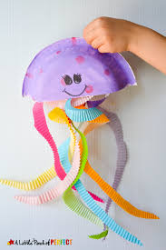 Jiggling Jellyfish Cupcake Liner Craft For Kids Easy And Mess Free Ocean Themed To