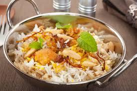 cuisine indienne poulet cuisine indienne de nourriture de cari de biryani de poulet image