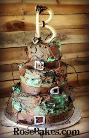 Buttercream Camouflage Grooms Cake By Rose Bakes