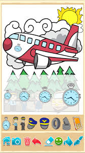 Planes Painting Game Beautiful Coloring Pages Screenshot