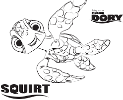 Disneys Finding Dory Coloring Pages Sheet Free Disney Printable Color Page