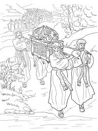 Joshua And The Israelites Cross Jordan River Coloring Page From Category Select