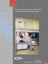 100 Em2 Design Electromechanical Testing Machines EM2 MICROTEST ENGLISH B