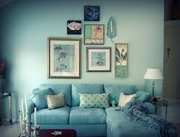Teal Couch Living Room Ideas by Soft Blue Living Room Idea In Walls And Sofa Design Blue Living