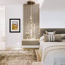 Kelly Hoppens Bedroom Love The Vertical Slat Floating Nightstand Next To Minimal Headboard Balance Of Value And Texture