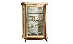 vitrine wohnzimmerschrank beige hochglanz luxus klassische