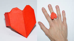 DIY paper crafts ideas for valentines day heart ring Julia DIY