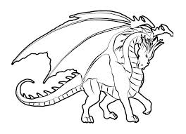 Dragon Coloring Page Fire Breathing Pages Free Of Dragons