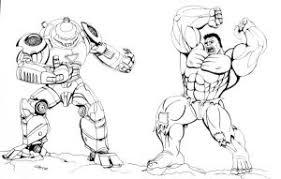 Hulkbuster Vs Hulk Coloring Pages