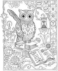 Owl Coloring Pages Pictures In Gallery For Adults