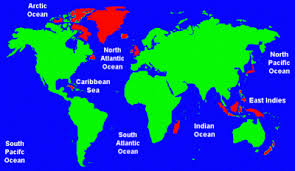 Map Showing The 20 Largest Islands In World