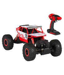 100 Monster Truck Remote Control Skylare RC Rock Crawler 24Ghz Transmitter 4WD Off Road RC CarRed