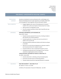 Resume Examples For Underwriters Beautiful Download Insurance And Underwriter