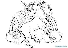 Easy Cute Unicorn Coloring Pages With Mustaches For Kids 14859