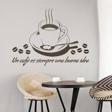 wandtattoo küche ein kaffee ist immer eine gute idee