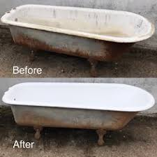 Cast Iron Bathtub Refinishing Seattle by Sandblasting And Painting A Cast Iron Tub For The Home