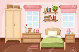 bedroom interior vector illustration royalty free cliparts