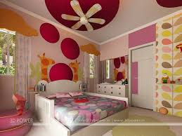 Bungalow Living Hall 3d Interior Design Girls Bedroom