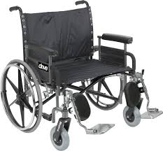 Bariatric Transport Chair 24 Seat by Sentra Heavy Duty Wheelchair Drive Medical