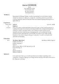Therapist Resume Examples