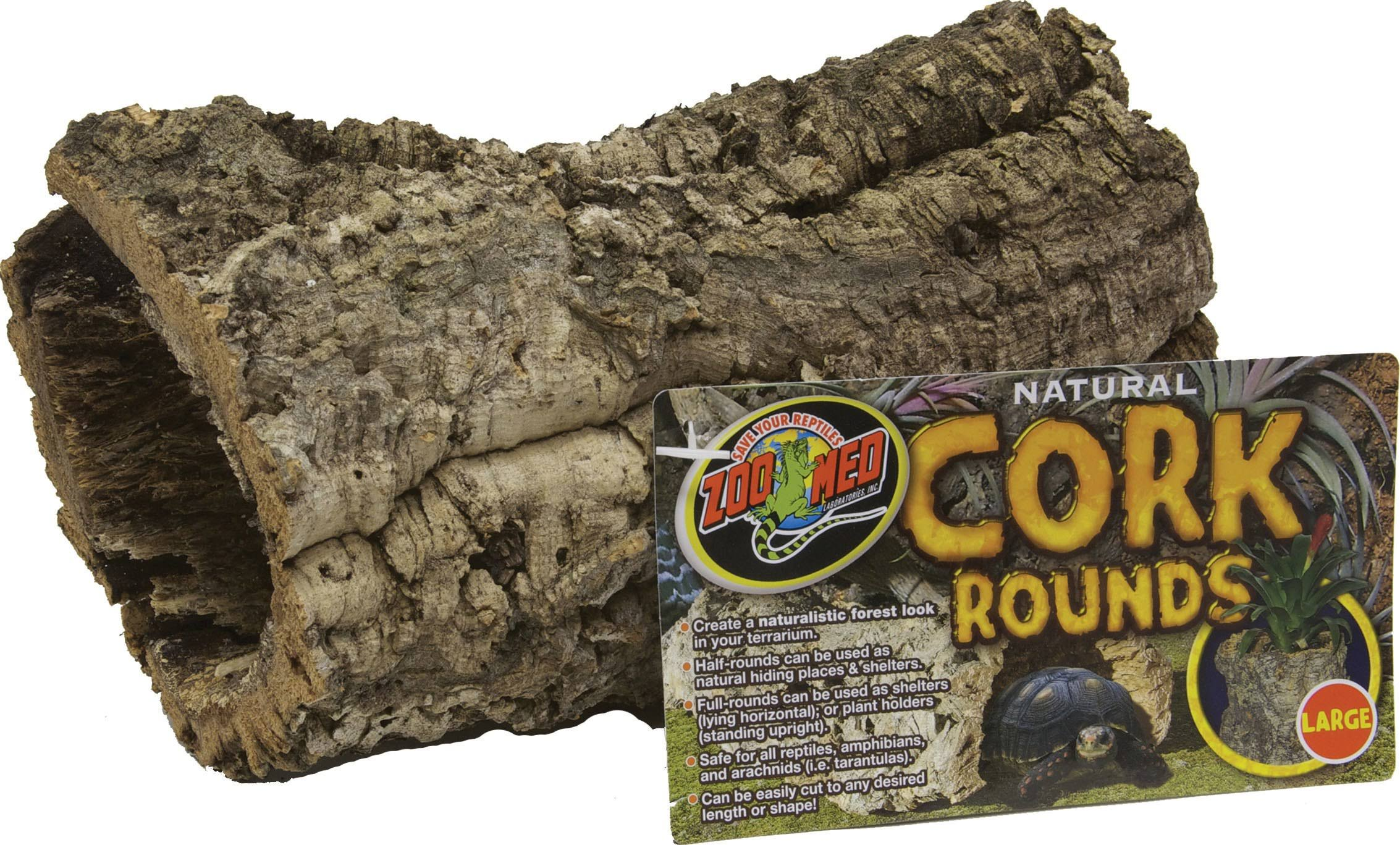 Zoo Med Laboratories Cork Rounds Bark - Round, Natural, Large