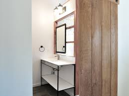 Bathrooms Design : Sliding Barn Door Bathroom Privacy Innocent ... Barn Style Doors Bathroom Door Ideas How To Install Diy Network Blog Made Remade Bathrooms Design Froster Sliding Shower Doorssliding Fancy Privacy Teardrop Lock For Modern Double Sink Hang The Home Project Kids Window Cover For The Fabulous Master Bath Entrance With Our Antique Rustic Modern Industrial Cabinet