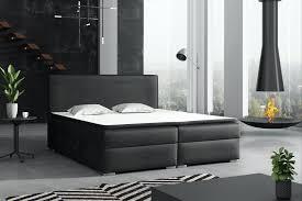 boxspringbett schlafzimmerbett dorian 160x200cm vintage schwarz