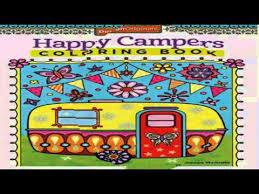 Happy Campers Coloring Book Design Originals