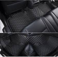 Diamond Floor Mats Black with Gold Stitching Jeep Dreamcarz1