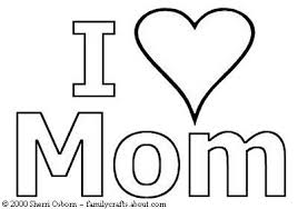 Mom Hearts Coloring Pages