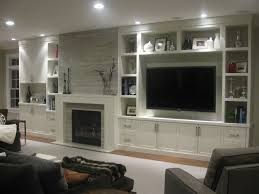 Living Room With Fireplace Design by Before And After Living Room And Dining Room Makeover Shelving