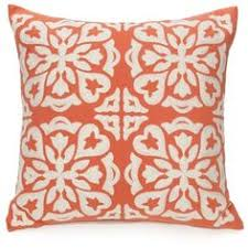 Coral Colored Decorative Accents by Abstract Summer Shades Coral Turquoise Ribbon Decorative Pillow