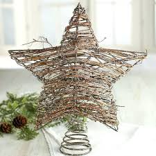 Elegant Item Other Rustic Tree Toppers With Star Christmas 165 Country Ivory Angel Decorative Topper