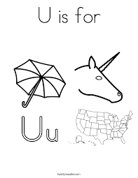 U Is For Coloring Page