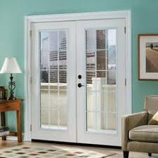 Masonite Patio Doors Home Depot by Reliabilt 71 5 In Blinds Between The Glass Steel French Inswing