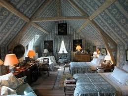 Under The Eaves A Blue And White French Roomperfect Attic Bedroom