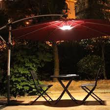 hton bay 11 ft solar offset patio umbrella in cafe yjaf052