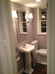 hicks hexagon wallpaper contemporary bathroom erin gates design