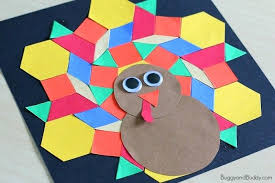Handmade Craft Ideas For Adults Step By Pattern Block Turkey Kids Buggy And Buddy